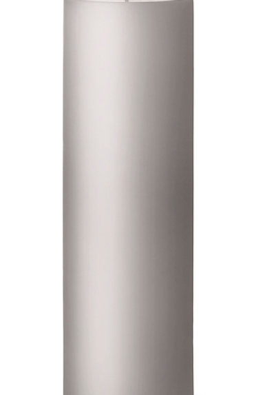 Ester & Erik Grey Zinc Pillar Candle 09 - 20cm - Matt