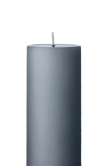 Ester & Erik Grey Dark Pillar Candle 74 -15cm - Matt