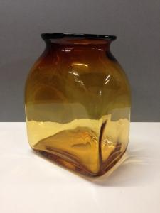 Amber Glass Umberto Vase