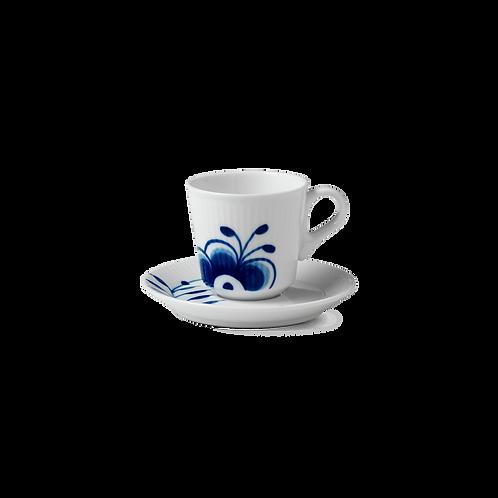 Royal Copenhagen Blue Fluted Mega Espresso Cup & Saucer - 9cl