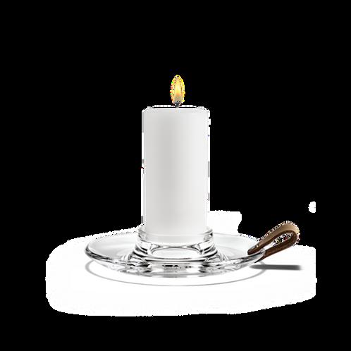 Holmegaard Design with Light Candleholder - Clear - 17cm