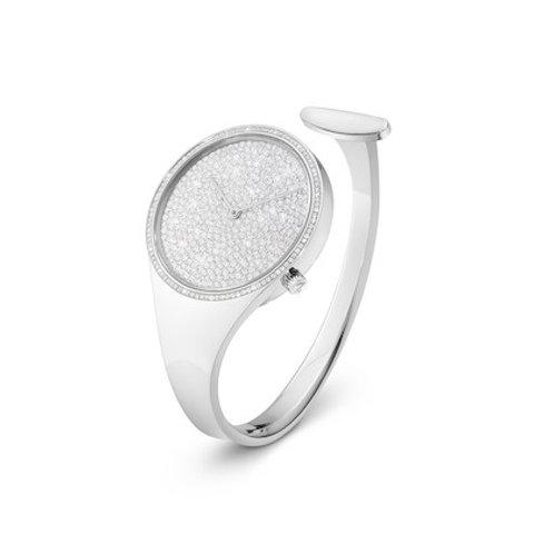 Georg Jensen Vivianna Watch 34mm - Quartz - Pavé Set Diamond Dial - Diamond Bezel