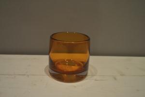 Amber Glass Tumbler Vase