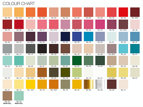 A colour swatch for ester & erik's candles - 4 cards of mini candles