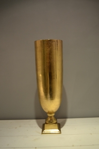 Matt Gold Metal Vase