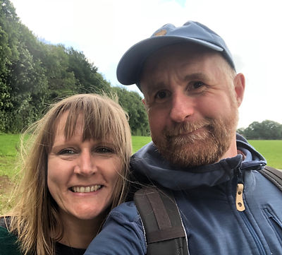 Claire and Russell founders of Hit The Trail