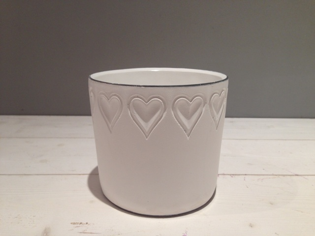 Ceramic Pot - Hearts