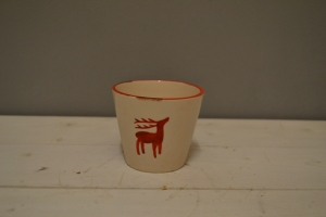 Ceramic Reindeer Pot