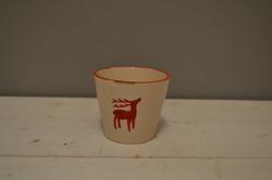 Ceramic Reindeer Pot
