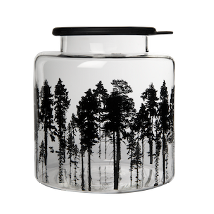Muurla Nordic glass jar with silicone lid - The forest
