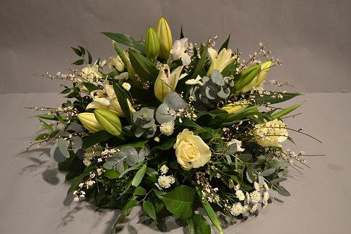 White Posy Arrangement - funeral flowers
