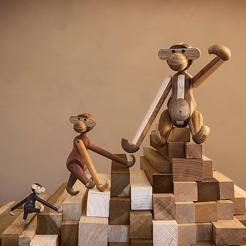 Kay bojesen monkeys working on blocks - blomster designs uk stockists