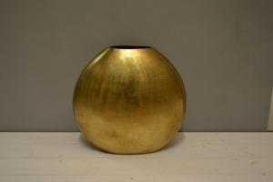Flat Matt Gold Metal Vase