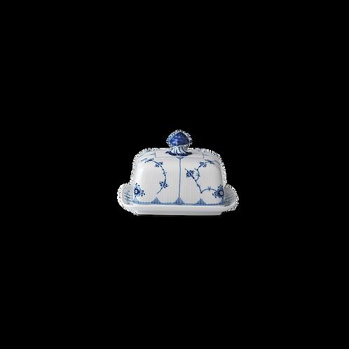 Royal Copenhagen Blue Fluted Plain Butter Dish - 42cl