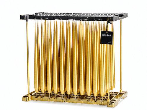Ester & Erik Gold Taper Candle 90 - 32Cm - Metallic