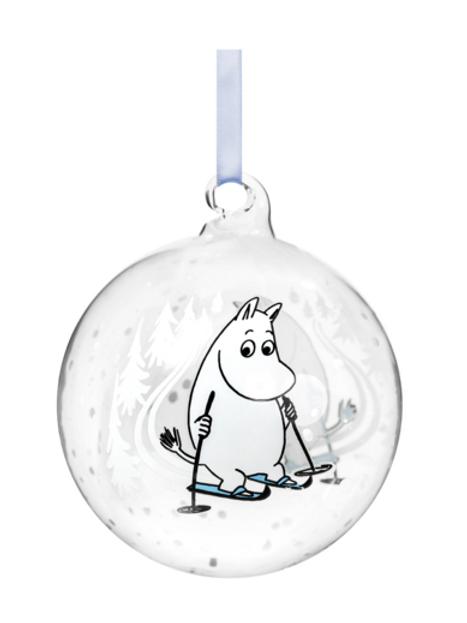 Moomin Christmas Decoration Ball - Ski Trip - 9cm
