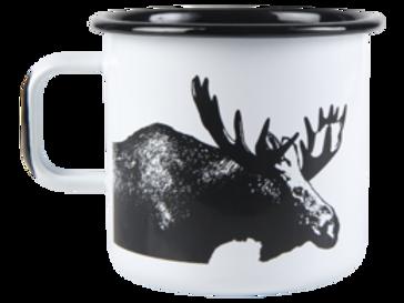 Muurla Nordic Enamel Large Mug - The Moose