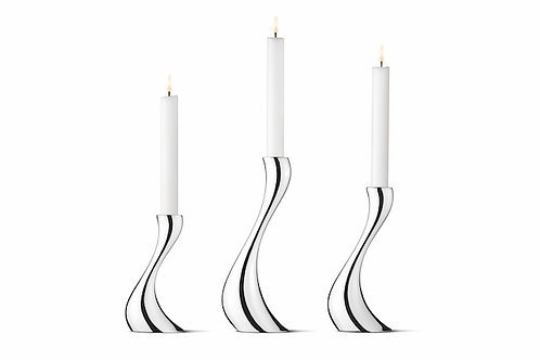 Georg Jensen Cobra Candleholders - set of 3