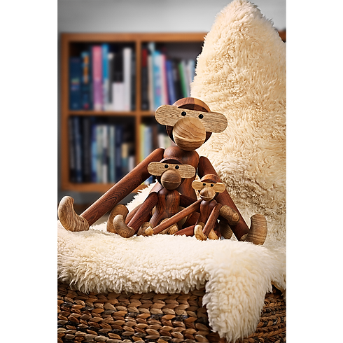 Kay Bojesen monkey-medium-teak-limba - Blomster designs - uk stockists