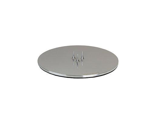 Ester & Erik Candle Plate - Shiny Silver