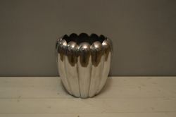 Silver Metal Finger Vase