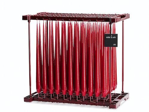 Ester & Erik Red Dark Taper Candle 36-0 - 42cm - Lacquered