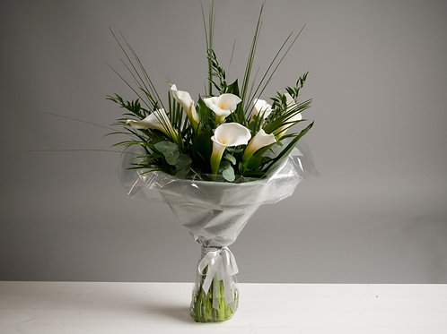 Sympathy Hand Tied Bouquet - funeral flowers