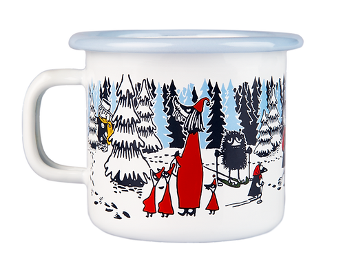 Moomin Enamel Mug - Winter Forest