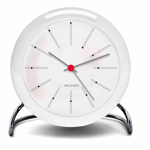 Arne Jacobsen Bankers Table Clock with Alarm