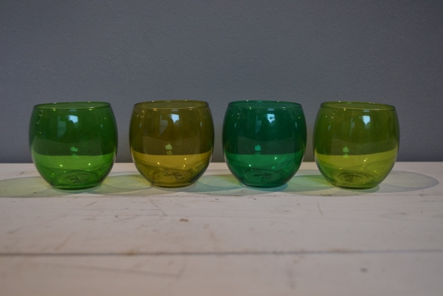 Glass Votive - Emerald Green
