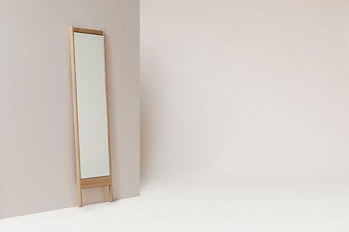 Form and Refine, A Line Mirror -  White Oak -