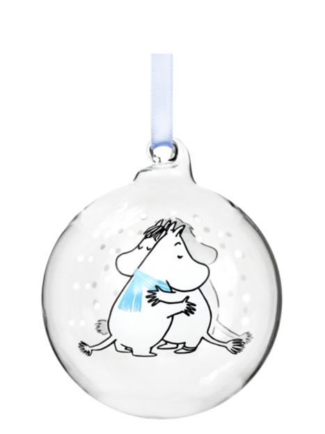 Moomin Christmas Decoration Ball - Cuddle - 7cm