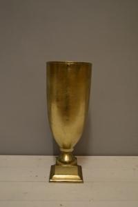 Matt Gold Metal Vase