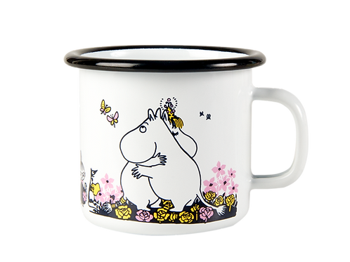 Moomin Enamel Mug - Hug - White