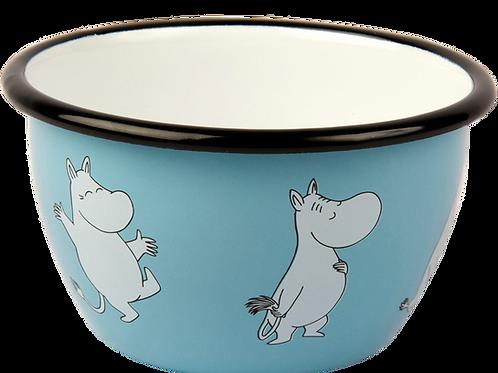 Moomin Enamel Bowl - Retro - Light Blue