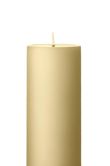 Ester &  Erik Beige Pillar Candle 14 - 15cm - Matt