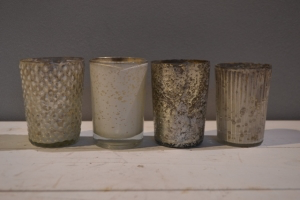 Crackle Glass Votives