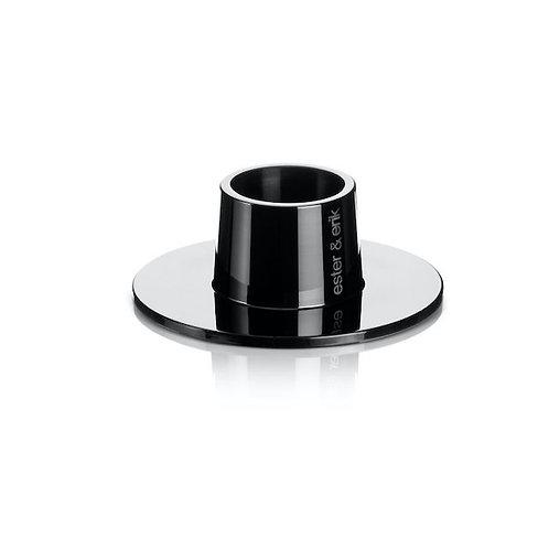 Ester & Erik Candle Holder - Shiny Black - Set of 2 - Medium