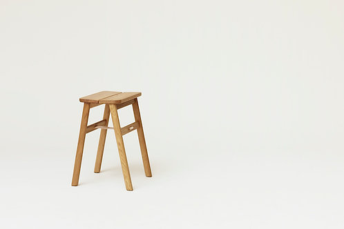 Form and Refine Angle Stool - Oak