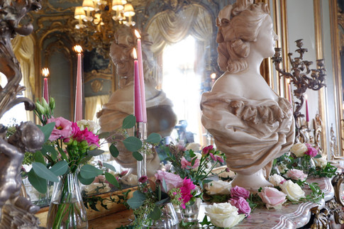 French dining room -Cliveden - Ester & Erik candles supplied by Scandinavian Homeware.