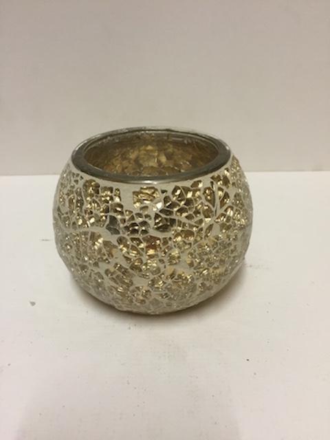Gold Mosaic Pot