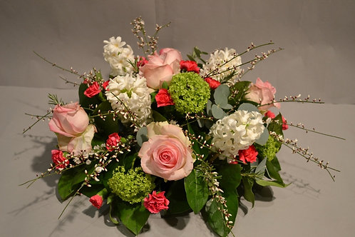White & Pink Posy Arrangement