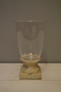 Stone & Glass Hurricane Lamp