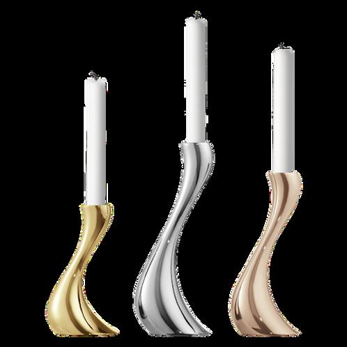 Georg Jensen Cobra Candleholder Set - set of 3 (Yellow Gold, Rose Gold & Stainless steel