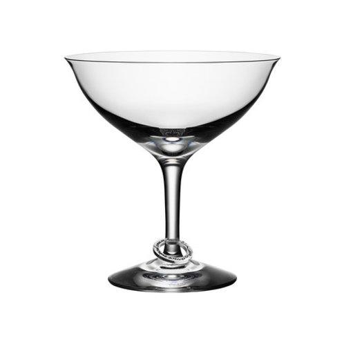 Orrefors Amor Vincit Omnia Champagne Coupe Glass - Set of 2
