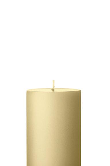 Ester & Erik Beige Pillar Candle 14 - 10cm - Matt