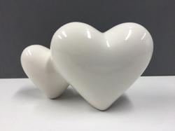 Decorative Polished Ceramic Hearts
