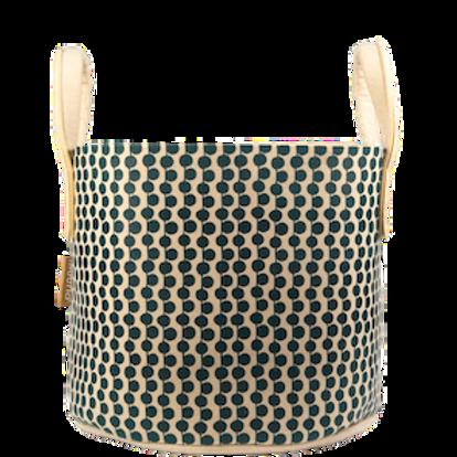 Muurla Berries storage basket 30l beige/ green