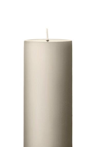 Ester & Erik Grey Linen Pillar Candle 22 - 15cm - Matt