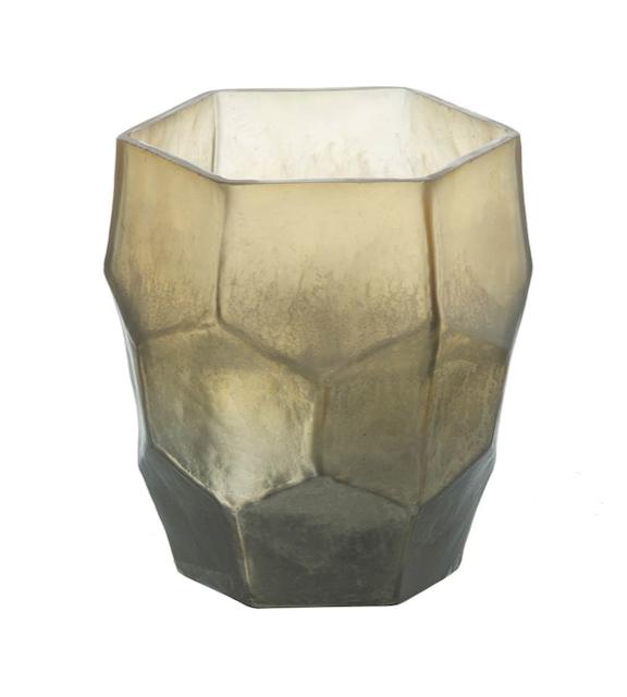 Glass Vase Gold Amber